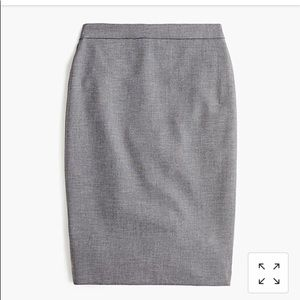 ♥️ J. Crew no.2 pencil skirt  / gray / size 2 xs